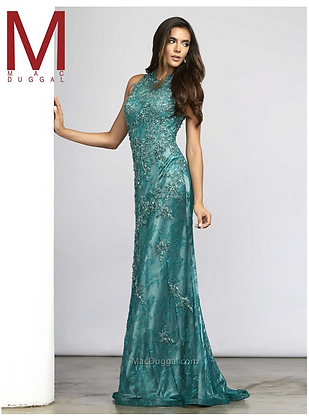 Fitted Lace Dress by MacDuggal
