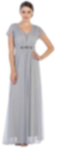 Model in silver dress