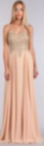 Strapless champagne dress