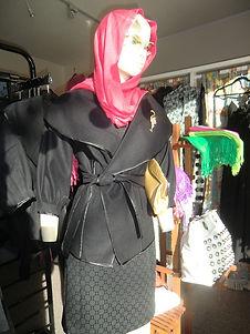 Mannequin in jacet Monterey store