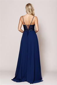 back of tone on tone corset dress