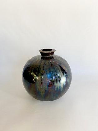 Night Sky - Collared jar - medium