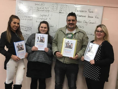 Melbourne Polytechnic Youth Justice Student Placements completed at Innovation Youth Centre.