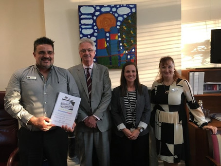 Meeting with Cr Kim Le Cerf & CEO Philip Shanahan from the City of Darebin