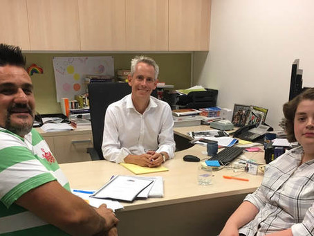 Meeting with IYC supporter Federal MP Andrew Giles