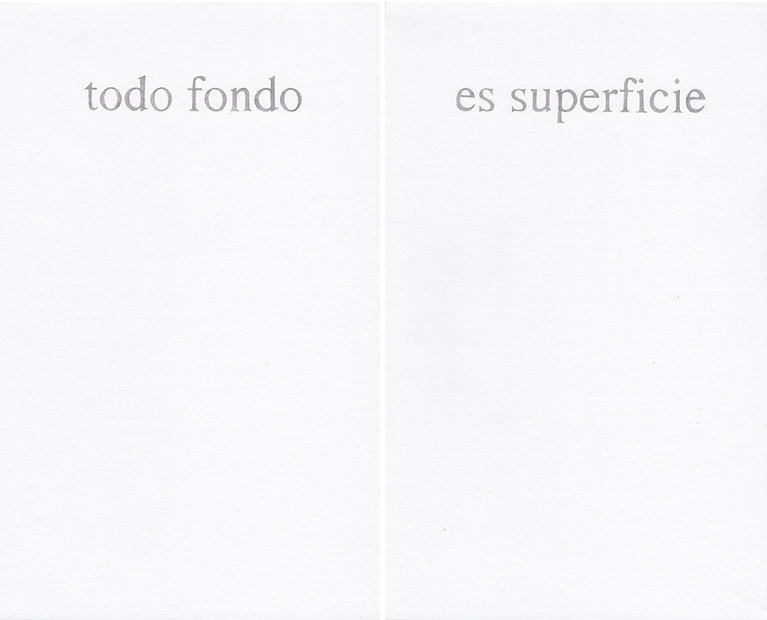 Del poder de las palabras (todo fondo es superficie), 2019
