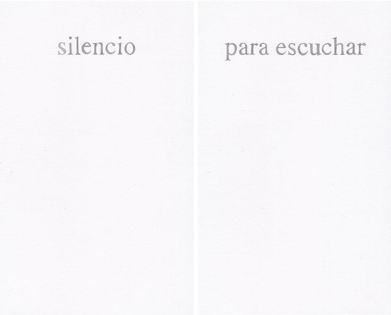 Del poder de las palabras (silencio para escuchar), 2020