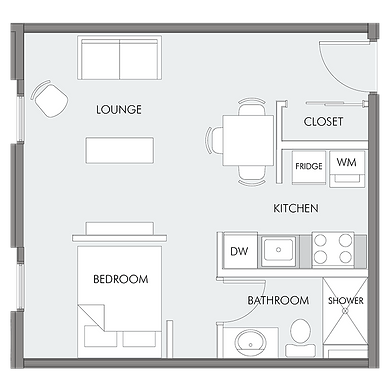 Standard layout of a unit at Worman Commercial's 1080 Benvoulin Court rental building
