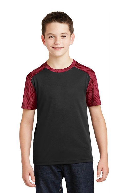 Sport-Tek® Youth CamoHex Colorblock Tee. YST371
