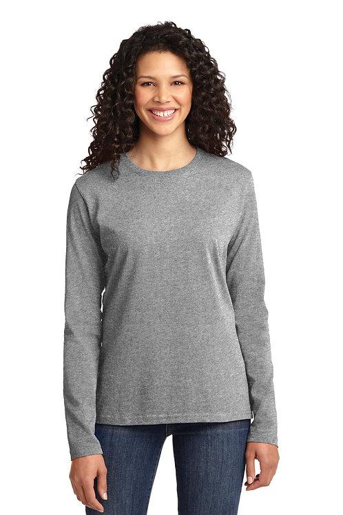 Port & Company® Ladies Long Sleeve Core Cotton Tee. LPC54LS