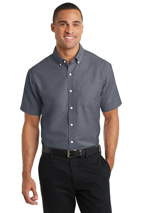 Port Authority® Short Sleeve SuperPro™ Oxford Shirt. S659