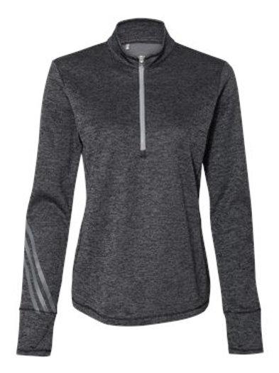 Adidas® - Women's Brushed Terry Heather Quarter-Zip - A285