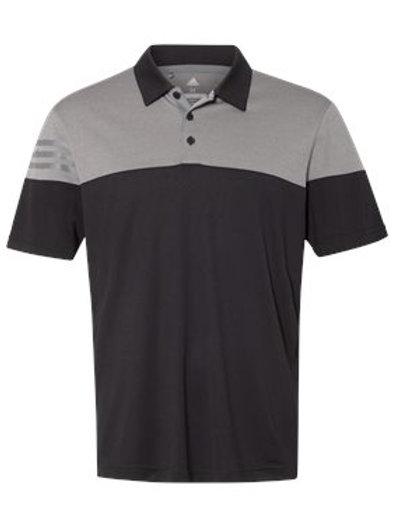 Adidas® - Heather 3-Stripes Block Sport Shirt - A213
