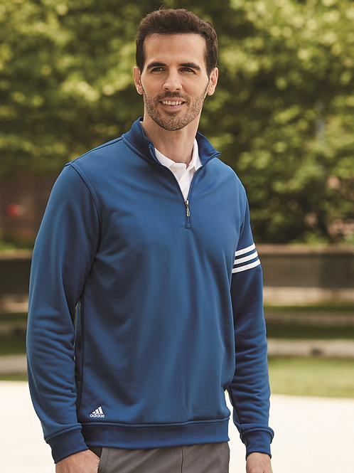 Adidas® - Golf ClimaLite 3-Stripes French Terry Quarter-Zip Pullover - A190