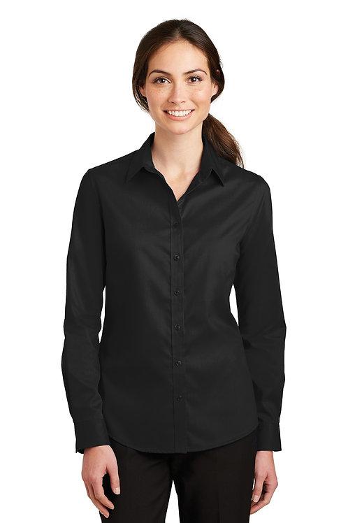Port Authority® Ladies SuperPro™ Twill Shirt. L663