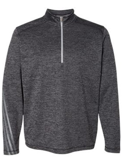 Adidas® - Brushed Terry Heather Quarter-Zip - A284