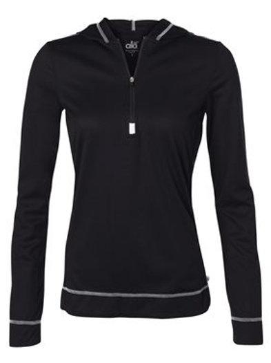All Sport® - Women's Long Sleeve Half-Zip Hooded Pullover - W3002