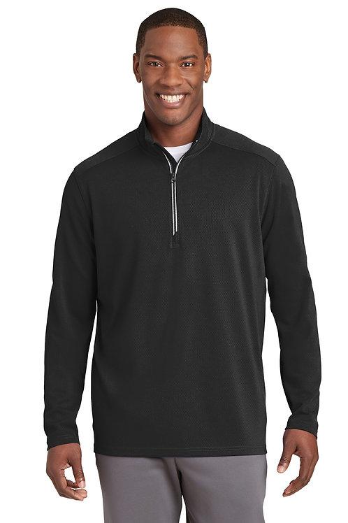 Sport-Tek® Sport-Wick® Textured 1/4-Zip Pullover. ST860