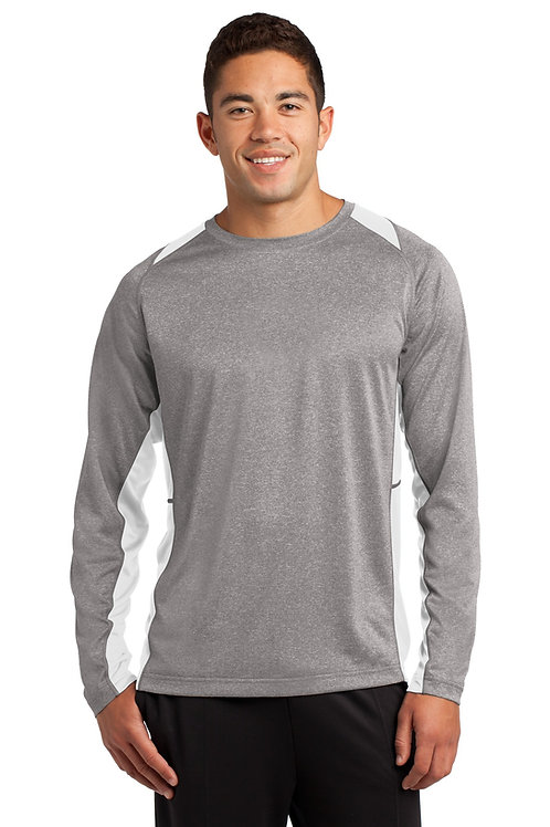 Sport-Tek® Long Sleeve Heather Colorblock Contender™ Tee. ST361LS