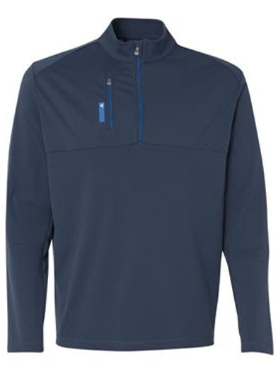 Adidas® - Golf Mixed Media Quarter-Zip Jacket - A195