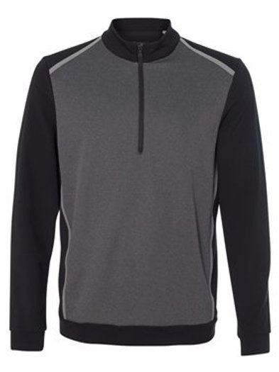 Adidas® - Golf Quarter-Zip Birdseye Fleece Pullover - A277