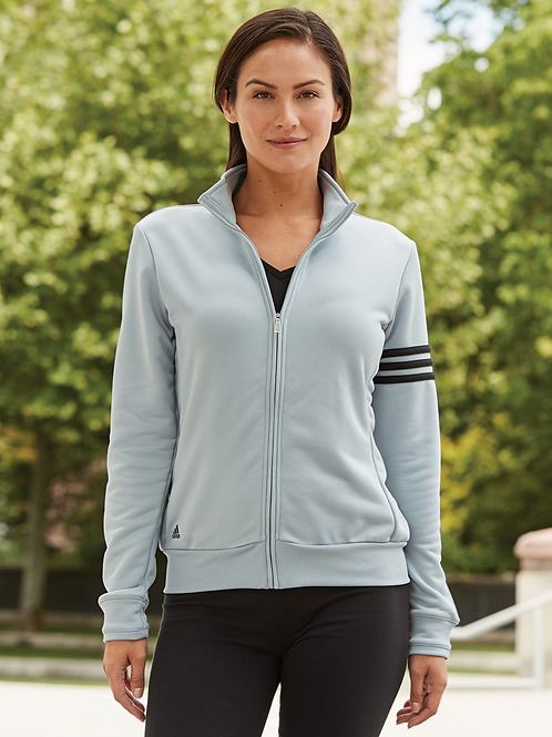 Adidas® - Golf Women's ClimaLite 3-Stripes French Terry Full-Zip Jacket - A191
