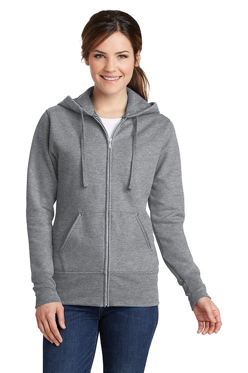 Port & Company® Ladies Core Fleece Full-Zip Hooded Sweatshirt. LPC78ZH