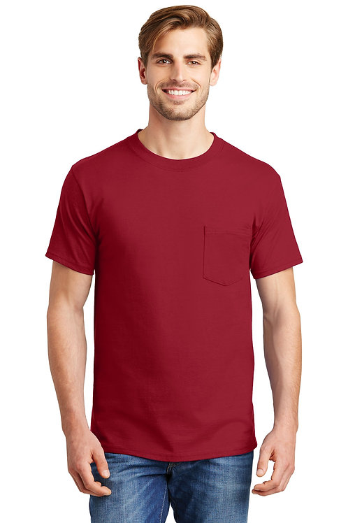Hanes® Beefy-T - 100% Cotton T-Shirt with Pocket. 5190