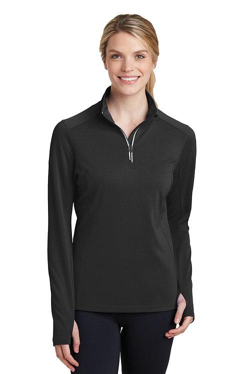 Sport-Tek® Ladies Sport-Wick® Textured 1/4-Zip Pullover. LST860