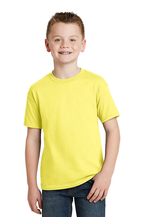 Hanes® - Youth EcoSmart 50/50 Cotton/Poly T-Shirt.  5370