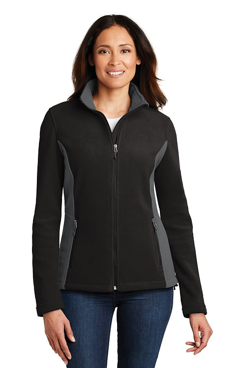 Port Authority® Ladies Colorblock Value Fleece Jacket. L216