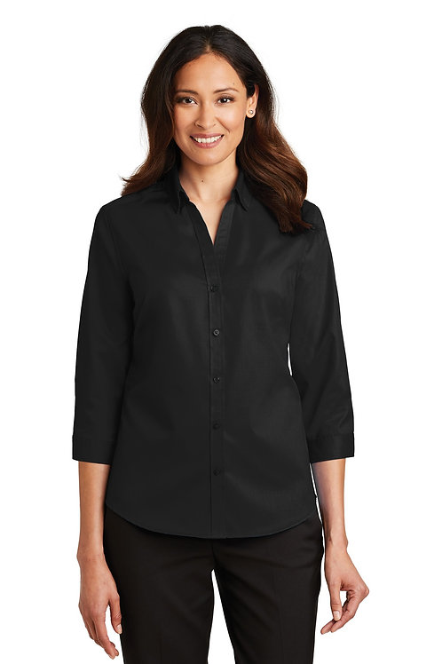 Port Authority® Ladies 3/4-Sleeve SuperPro™ Twill Shirt. L665