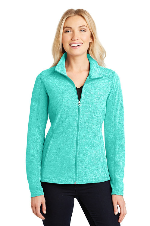 Port Authority® Ladies Heather Microfleece Full-Zip Jacket. L235