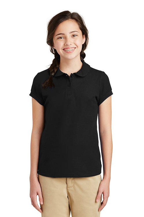 Port Authority® Girls Silk Touch™ Peter Pan Collar Polo. YG503