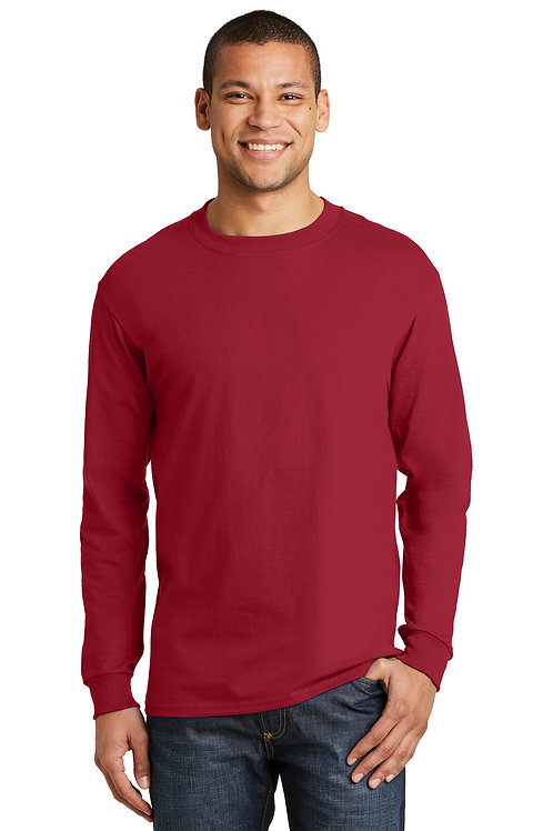 Hanes® Beefy-T -  100% Cotton Long Sleeve T-Shirt.  5186
