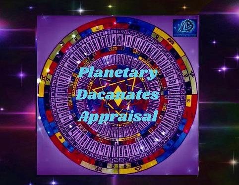 Planetary Decanates Appraisal