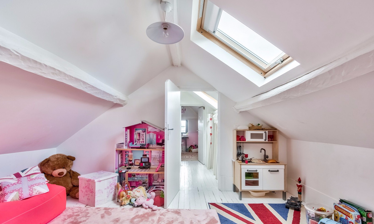 children's playroom under the eaves