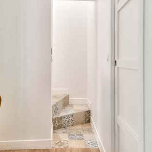 steps to wetroom and bedroom