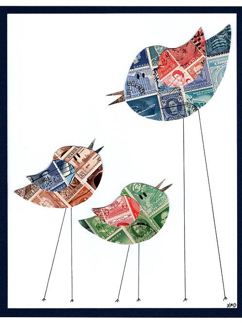 Birds - Mom & Chicks 8x10