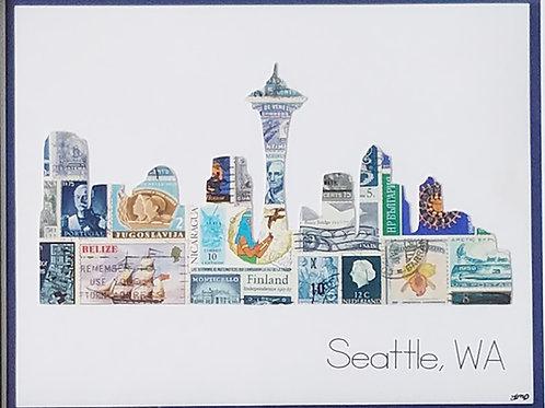 Seattle Skyline 8x10
