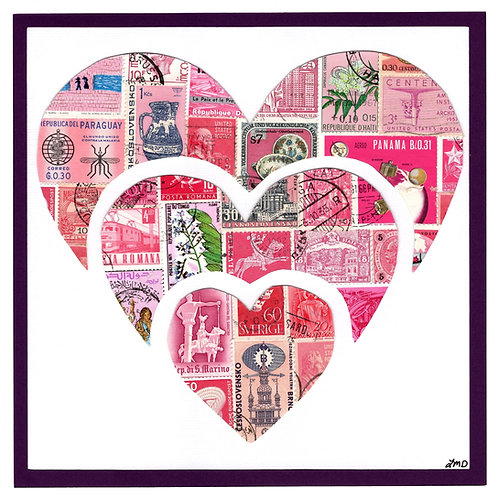 Heart - Triple 8x8 (FRAMED)