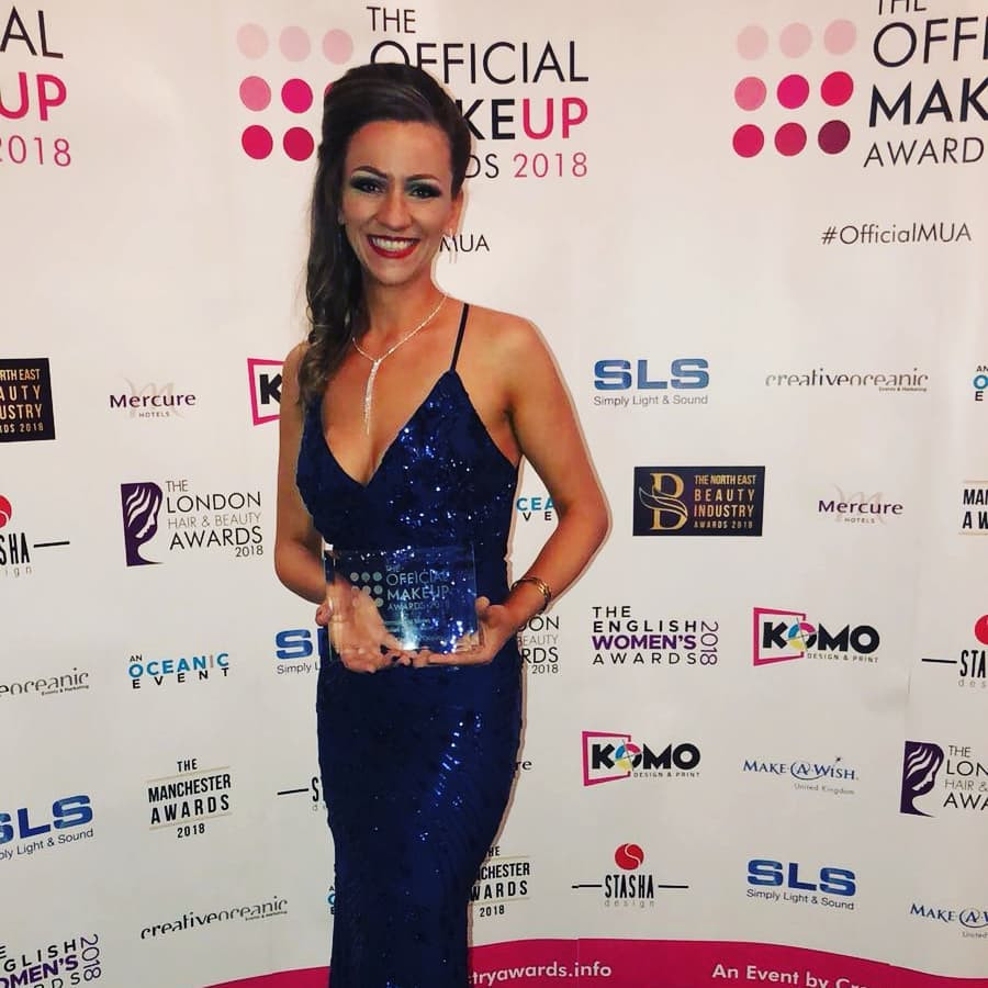 Erika's Beauty Semi permanent make up specialist of the year 2018 for England/The Official make up Awards