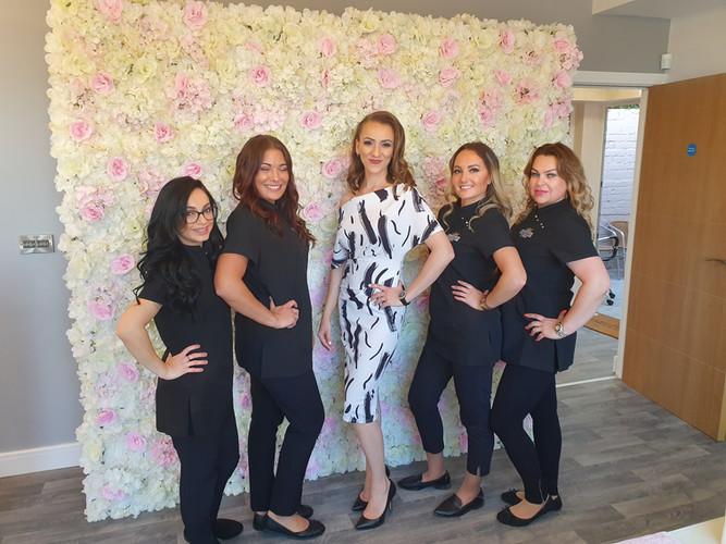 Erika's Beauty team/Grand Opening