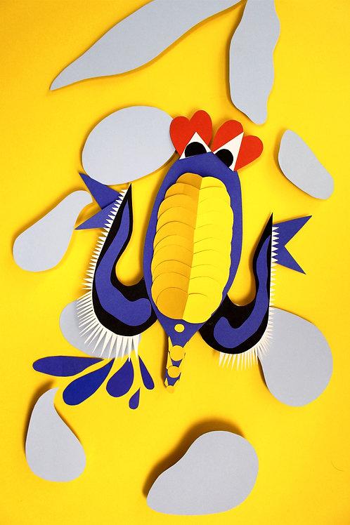 A4/A3 Poster King Kobalt