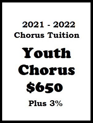 2021 - 2022 Youth Chorus Tuition