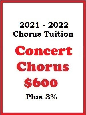2021 - 2022 Concert Chorus Tuition
