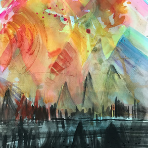 From Dark to Light in Watercolor and your Life.
