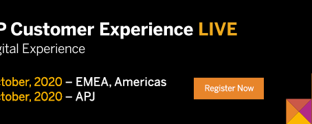 Oct 14th. SAP Customer Experience Live