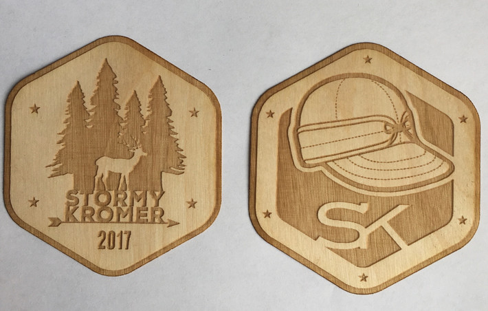 wooden sticker