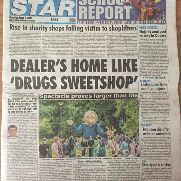 Shropshire Star Front Page